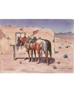 SOLD Leonard Reedy (1899-1956) - Night on the Desert