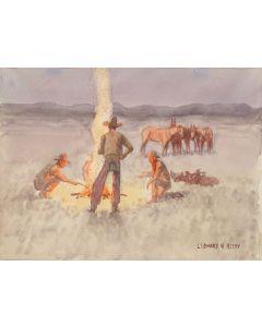SOLD Leonard Reedy (1899-1956) - The Campfire