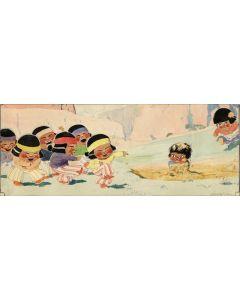SOLD James Swinnerton (1875-1974) - Canyon Kiddies Illustrated Cartoon