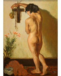 Odon Hullenkremer (1888-1978) - Nude with Lily