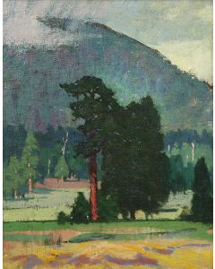 SOLD Mary-Russell Ferrell Colton (1889-1971) - Rain Over Flagstaff