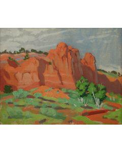 SOLD Mary-Russell Ferrell Colton (1889-1971) - Sedona Orange