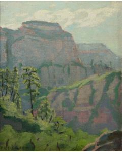 SOLD Mary-Russell Ferrell Colton (1889-1971) - Evening in the Canyon