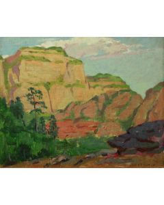 SOLD Mary-Russell Ferrell Colton (1889-1971) - Dawn, Oak Creek Canyon, Study