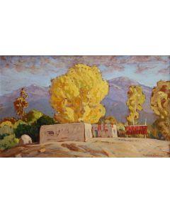SOLD Sheldon Parsons (1866-1943) - Pepper Drying Time