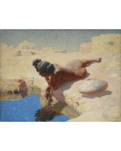 SOLD W. R. Leigh (1866-1955) - At the Pool