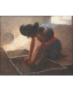 SOLD W. R. Leigh (1866-1957) - Grinding Corn