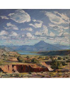 SOLD Louisa McElwain (1953-2013) - El Pedernal, The Red Draw