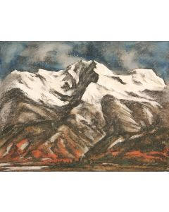 Howard Cook (1901-1980) - Wheeler Peak near Taos