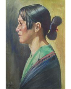 SOLD Joseph Imhof (1871-1955) - Anna Sandoval of Taos Pueblo