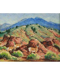 SOLD Ila Mae McAfee (1897-1995) - Antelope Breaks