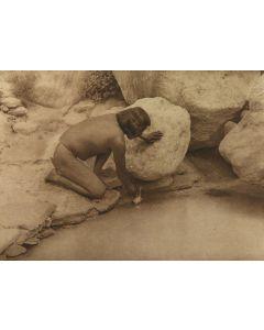 Edward S. Curtis (1868-1952) - Depositing a Prayer-Stick