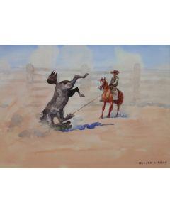SOLD Leonard Reedy (1899-1956) - The Roped Pony
