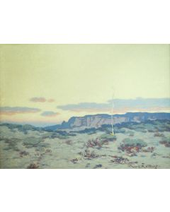 Warren E. Rollins (1861-1962) - The Desert - Twilight