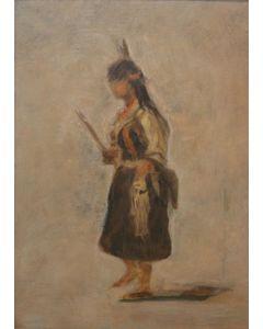 SOLD Albert Bierstadt (1830-1902) - Indian Maiden