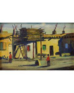 SOLD E. A. Burbank (1858-1949) - Jemez Indian Village - Jemez, New Mexico