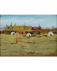 SOLD E. A. Burbank (1858-1949) - San Ildefonso Pueblo Indian Village