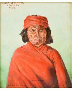 SOLD E. A. Burbank (1858-1949) - Chief Geronimo, Apache
