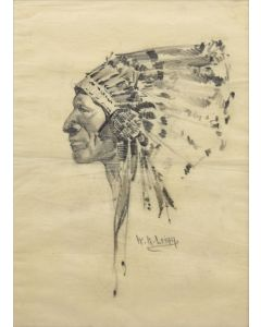William R. Leigh (1866-1955) - Indian Portrait