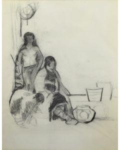 Mary-Russell Ferrell Colton (1889-1971) - Hopi Family and Hopi Pot