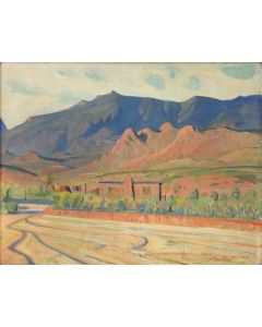 Pete Martinez (1894-1971) - My Friend's Studio, The Canyon of Gold Where Lonewolf the Famous Cowboy and Indian Painter Lives in Arizona, 1934 (PDC1787)