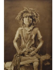 Edward S. Curtis (1868-1952) - Honovi - Walpi Snake Priest, with Totokya Day Painting