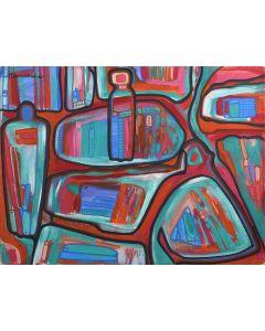 Terrance Talaswaima, Honvantewa (1939-1988), Hopi - Abstract Kachinas (PDC1810)