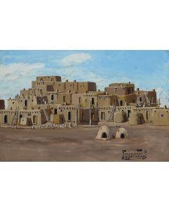 Albert Lujan (a.k.a. Weasel Arrow) (1892-1948) - Taos Pueblo (PDC1825)