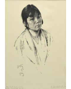 William E. Dunton (1878-1936) - Taos Pueblo Indian Girl (PDC1834)