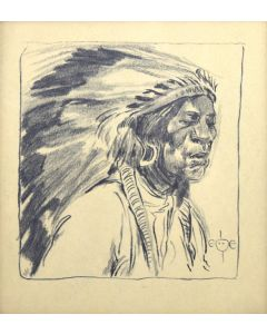 Gerald Cassidy (1879-1934) - Untitled Portrait of Indian Chief (PDC1839)