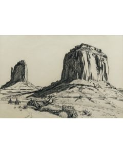 Edith Hamlin (1902-1992) - Riders and Mesas