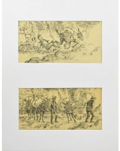 Clarence Ellsworth (1885-1961) - Cowboy Drawings