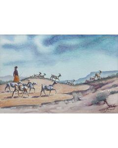Allan Capron Houser (1914-1994) - Untitled, Goat-herder c. 1968