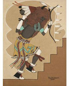 SOLD Pablita Velarde (1918-2006) - Santa Clara Buffalo Dancer