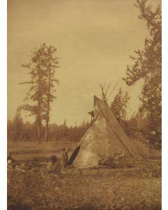 Edward S. Curtis (1868-1952) - A Cree Camp at Lac Les Isles (PDC90213C-0221-002)