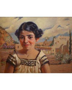 Odon Hullenkremer (1888-1978) - Santa Fe Girl