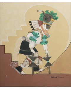 SOLD Pablita Velarde (1918-2006) - Ram Dancer
