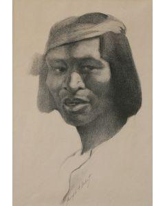 SOLD Josepf Imhof (1871-1955) - Indian Portrait