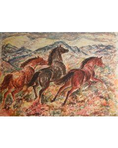 Ila Mae McAfee (1897-1995) - Untitled - Horses Running