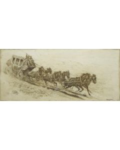 Edward Borein (1872-1945) - Overland Mail