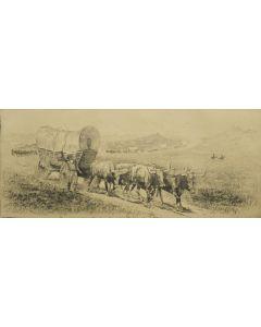 Edward Borein (1872-1945) - Emigrant Train