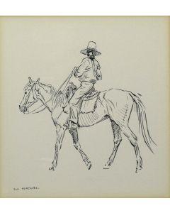 SOLD Don Perceval (1908-1979) - Navajo Horseman (PDC90346B-1219-001)