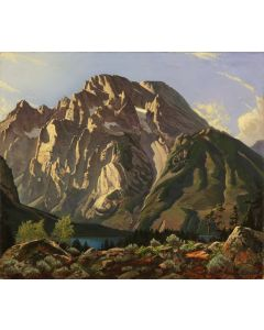 Robert Clunie (1895-1984) - Mount Moran, Leigh Lake (PDC90352A-0720-003)