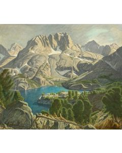 Robert Clunie (1895-1984) - 5th Lake and Mt. Robinson, Afternoon in North Palisade Basin, Big Pine California (PDC90352A-0720-006)