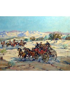 SOLD Marjorie Reed (1915-1996) - Indian Raid