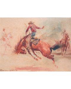 Edward Borein (1872-1945) - Bucking Horse
