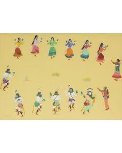 Harrison Begay (1914-2012) - Yeibeichei Dance (PDC91143A-0620-003)