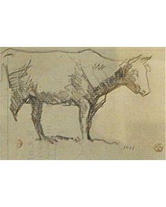 Maynard Dixon (1875-1946) - SOLD - Cow Study