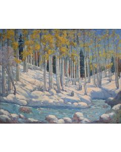 SOLD Joseph Roy Willis (1876-1960) - Sept. Snow Hondo Canyon