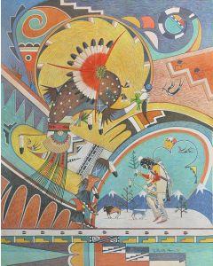 SOLD Gilbert Atencio (1930-1995) - Peyote